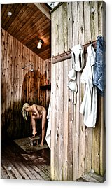 Employee Showers Acrylic Print by Bill Cannon