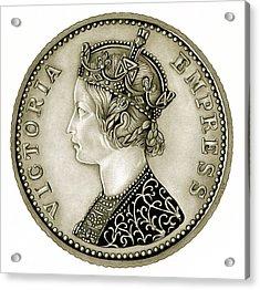 Silver Empress Victoria Acrylic Print