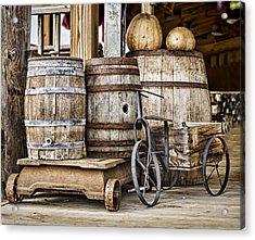 Emptied Barrels Acrylic Print