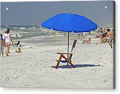 Acrylic Print featuring the photograph Empty Beach Chair by Charles Beeler