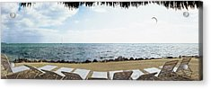 Empty Beach Chairs On The Beach, Key Acrylic Print by Panoramic Images