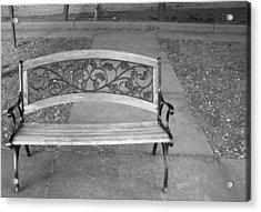 Empty Bench Acrylic Print by Stephanie Grooms