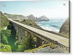 Empty Bridge Overlooking The Sea Acrylic Print by James O'neil
