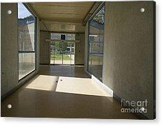 Empty Corridor At Public Hospital Acrylic Print by Sami Sarkis