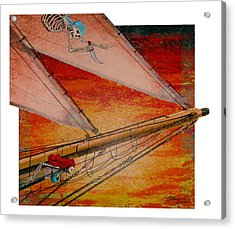 Acrylic Print featuring the painting Empty Dreams by David  Chapple