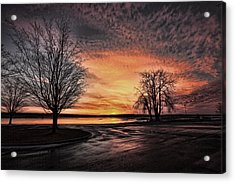 Empty Lot Sunset Acrylic Print by Chris Babcock