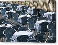 Empty Restaurant Seats And Tables Acrylic Print