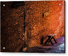 Empty Seat On A Hill Acrylic Print by Bob Orsillo