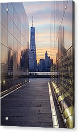 Empty Sky Memorial And The Freedom Tower Acrylic Print by Susan Candelario