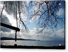Acrylic Print featuring the photograph Empty Swing by Karen Horn
