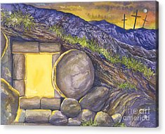 Empty Tomb Or Life And Death Acrylic Print by Mark Jennings