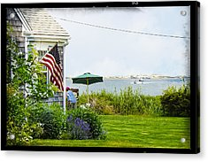En Plein Air With Flag Acrylic Print
