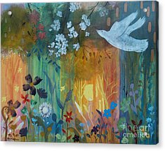 Acrylic Print featuring the painting Encantador by Robin Maria Pedrero