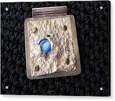 Encased Blue Stone Acrylic Print