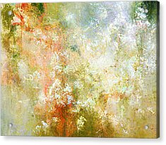 Enchanted Blossoms - Abstract Art Acrylic Print by Jaison Cianelli