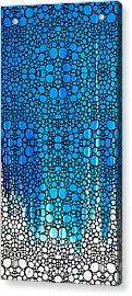 Enchanted - Blue And White Abstract Stone Rock'd Art By Sharon Cummings Acrylic Print by Sharon Cummings