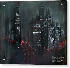 Enchanted City Acrylic Print by Maja Sokolowska
