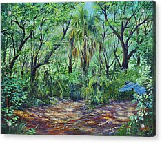 Enchanted Clearing Acrylic Print by AnnaJo Vahle