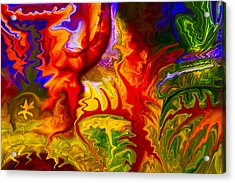 Enchanted Forest Fire Acrylic Print