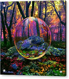 Acrylic Print featuring the painting Enchanted Forest by Robin Moline
