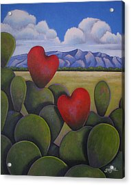 Enchanted Hearts Acrylic Print