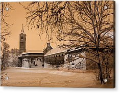 Enchanted Old Town Acrylic Print by Davorin Mance