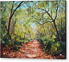 Enchanted Path Acrylic Print by AnnaJo Vahle