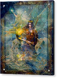 Angel Tarot Card Enchanted Princess Acrylic Print by Steve Roberts
