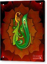 Enchanting Peacock 1 Acrylic Print by Peter Awax
