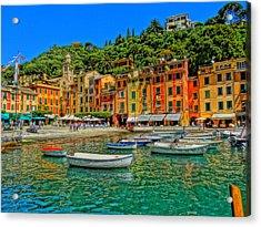 Enchanting Portofino In Ligure Italy IIi Acrylic Print by M Bleichner