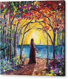 Acrylic Print featuring the painting Enchanted by Jennifer Beaudet