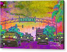 Encinitas California 5d24221p68 Acrylic Print by Wingsdomain Art and Photography