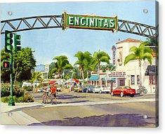 Encinitas California Acrylic Print by Mary Helmreich