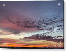 End Of 2012 Sunrise Acrylic Print by Michael Waters