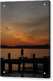End Of A Day Acrylic Print by Cheryl Perin