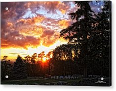 End Of Day In Time Acrylic Print by Dan Quam