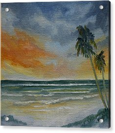 End Of Day Acrylic Print by Rosie Brown