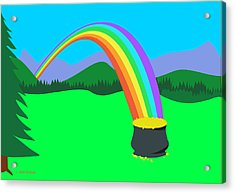 End Of Rainbow Pot Of Gold Acrylic Print