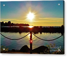 End Of Summer Sun Acrylic Print by Judy Via-Wolff