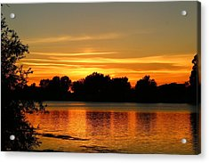 Acrylic Print featuring the photograph End Of Summer Sunset by Lynn Hopwood