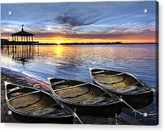 End Of The Day Acrylic Print by Debra and Dave Vanderlaan