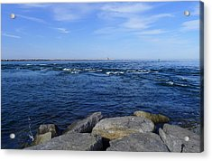 End Of  The Jetty Acrylic Print