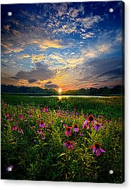 End Of The Night Acrylic Print by Phil Koch