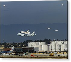 Endeavor Foies First Of Two Flyovers Over Lax Acrylic Print
