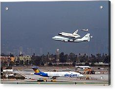 Endeavors Final 300 Ft Flyover Runway 25 Acrylic Print