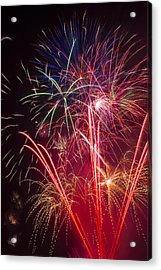 Endless Fireworks Acrylic Print by Garry Gay