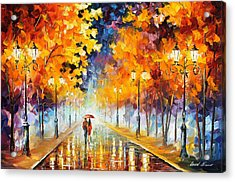Endless Love Acrylic Print by Leonid Afremov