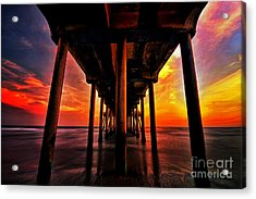 Endless Sunset Acrylic Print by Peter Dang