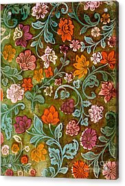 Endplate From A Turkish Book Acrylic Print by Turkish School