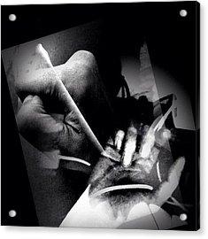 Endure--all pains-- Just Feel Acrylic Print